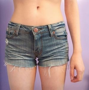 2for15 Rue21 distressed jean shorts, size 0/1